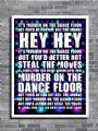 Sophie Ellis-Bextor - MURDER ON THE DANCE FLOOR canvas print - self adhesive poster - photo print